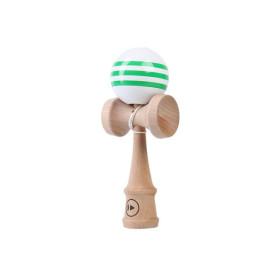 Kendama Play Pro Striped - White/Green